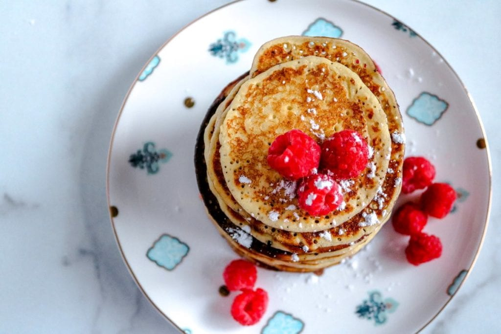 These quick and easy keto almond flour pancakes make a delicious, healthy breakfast and contains only 6 ingredients.