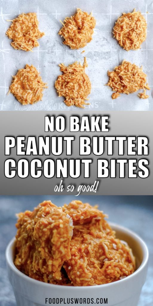 Keto No-Bake Peanut Butter Cookie Bites - A mouth-watering, delicious food with every bite! Filled with natural peanut butter and coconut flakes, this easy protein-packed snack is all you need.