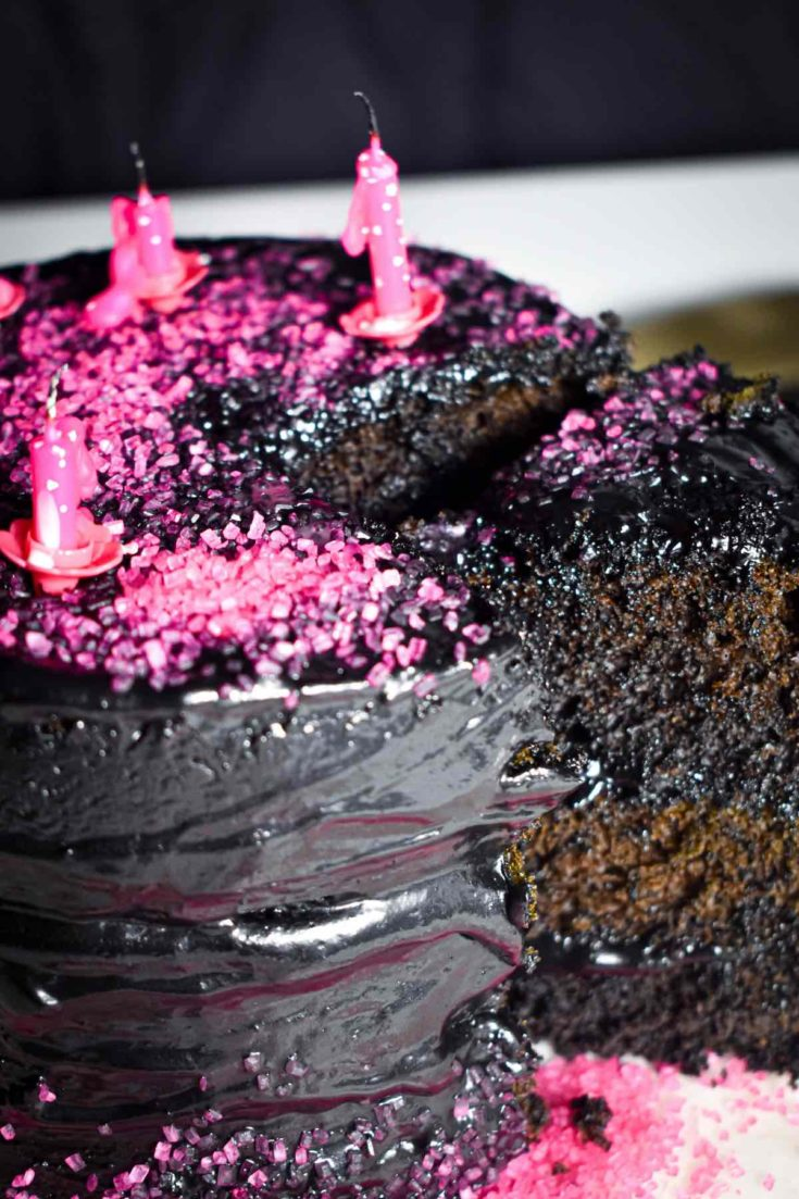 This black velvet cake will stop people in their track. Perfect without the black food coloring and made with the silkiest chocolate black buttercream, this black velvet chocolate cake recipe is the only one you'll use over and over again.