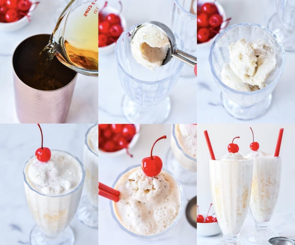 You can't say no to cold and refreshing Spiked Apple Cider Floats! These cocktails are the perfect drinks for thanksgiving, parties, happy hour, and even brunch.