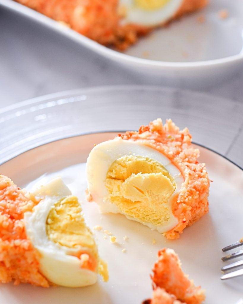 Moi Moi with hard-boiled eggs