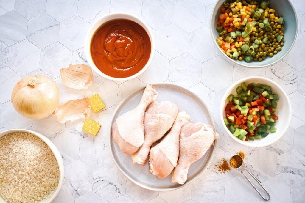 Chicken for Nigerian Jollof Rice