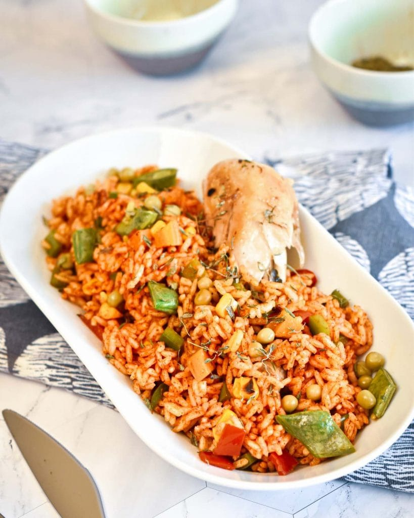 Nigerian Jollof Rice at its best
